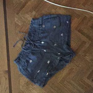 Cotton linen women's shorts